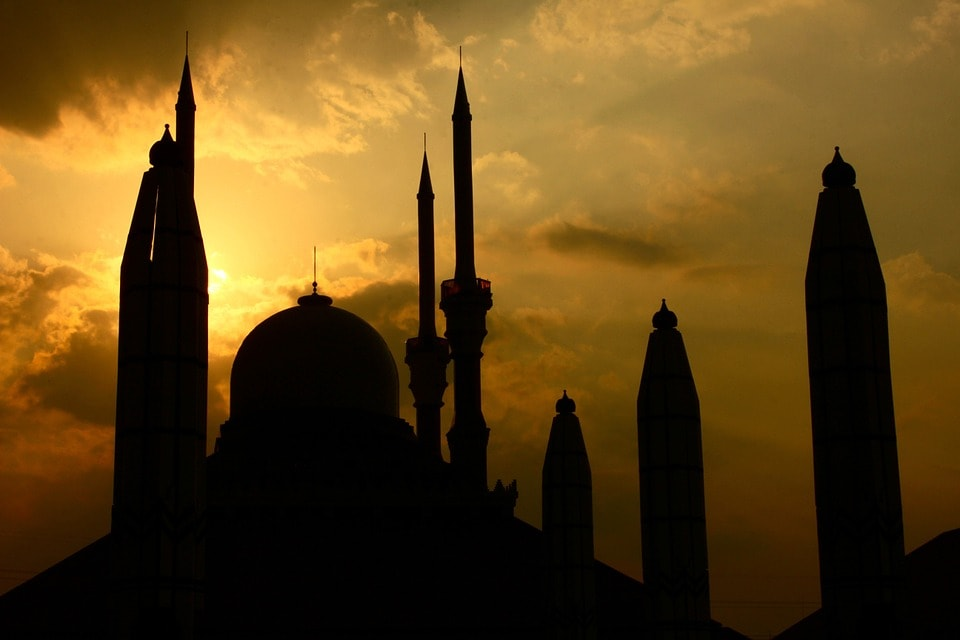 prayers at sunset during ramadan at Raising World Children