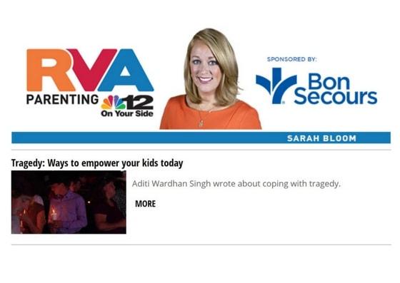 Featured on NBC12 News Website | Raising World Children |