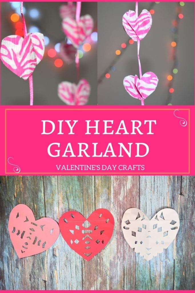 DIY Heart Garland Day Crafts - Different Ways To Make Heart Garlands | Easy Valentines Crafts for Kids