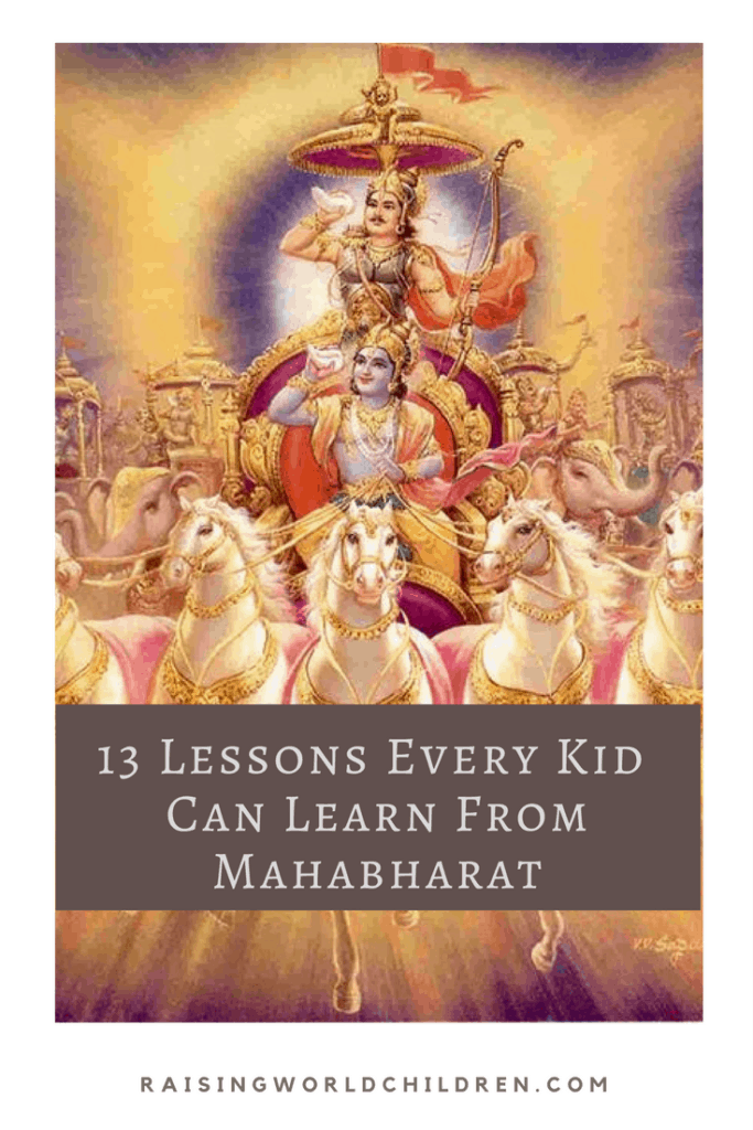13 Lessons Every Kid Can Learn From Mahabharat www.raisingworldchildren.com #mahabharat #hindumythology #mythology #indianmythology