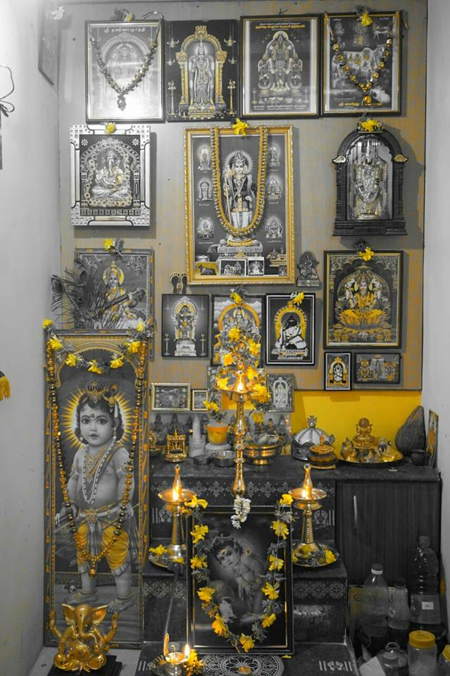 Decorations At Our Pooja Room