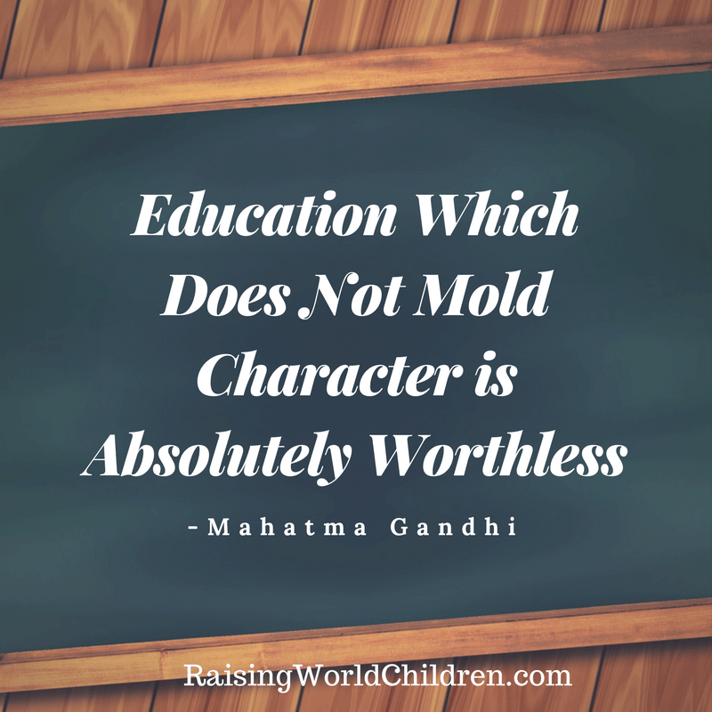 Raising World Children Gandhi Quote 5