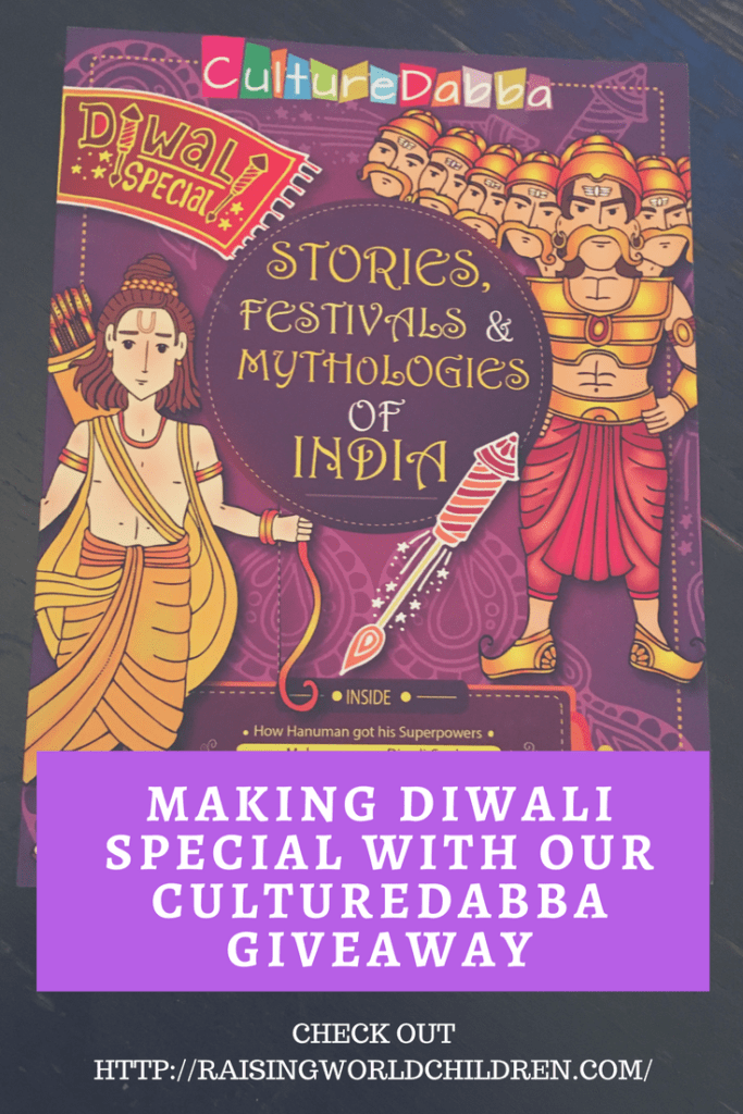 Making Diwali Special With Culture Dabba and Raising World Children | GIveaway | Free Books | Diwali Books | INdian Mythology
