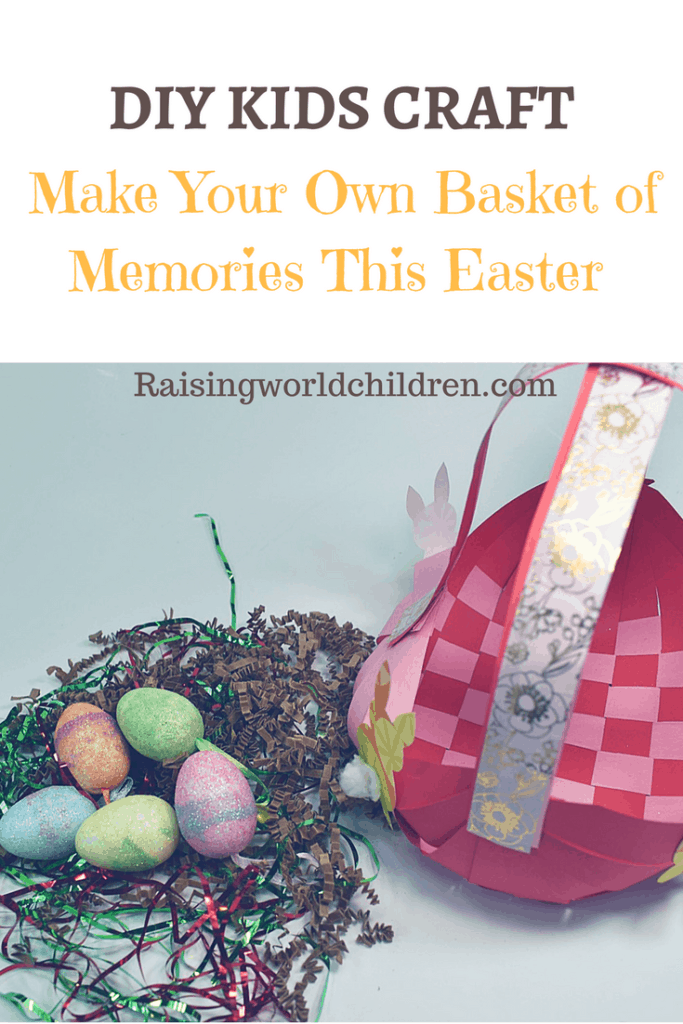 DIY Kids Craft For Making An Easter Basket for Egg Hunt