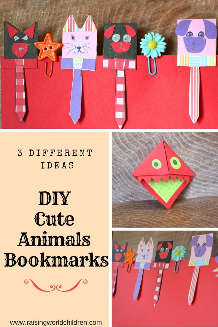 how to make diy cute bookmarks - raising world children