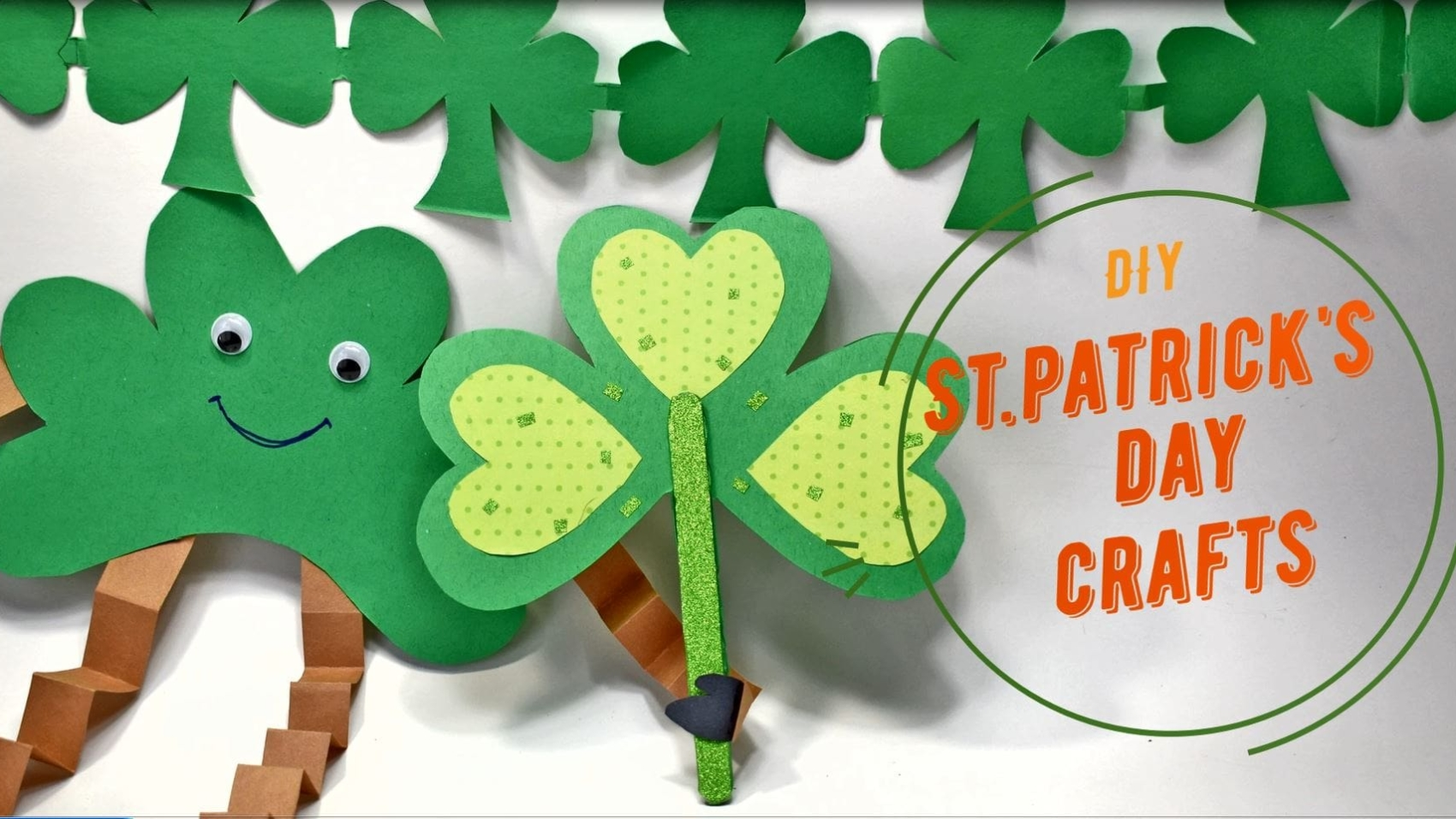 Shamrock crafts for ST.Patrick's Day