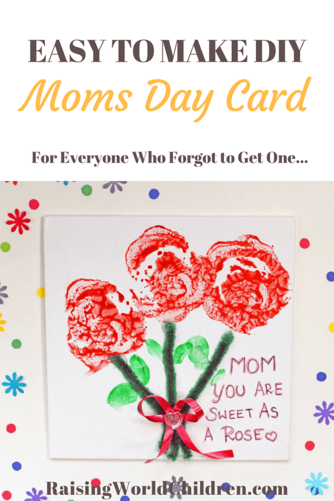 Easy day card for all people who waited till the last minute. Make the mom in their life extra special.