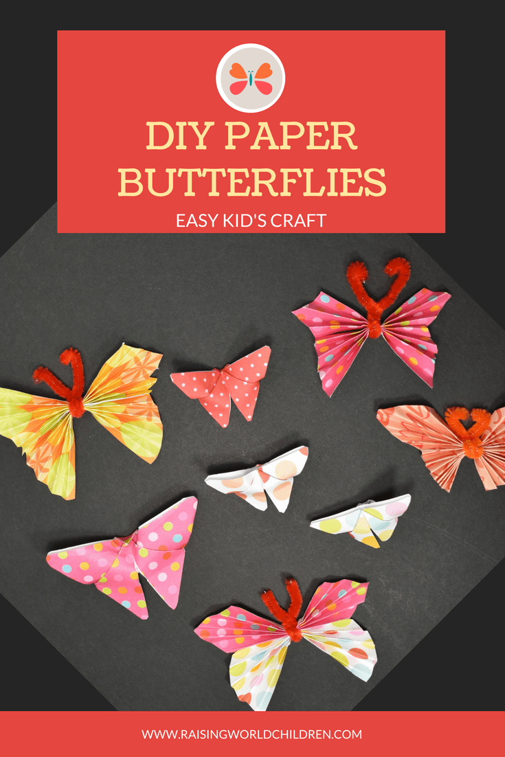 how to make diy paper butterflies raising world children