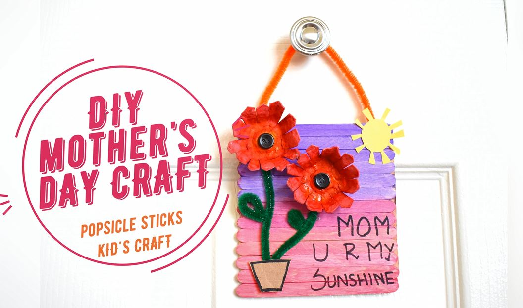 How To Make Diy Popsicle Stick Canvas Gift Mother S Day Craft For