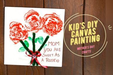 Mother's day canvas painting