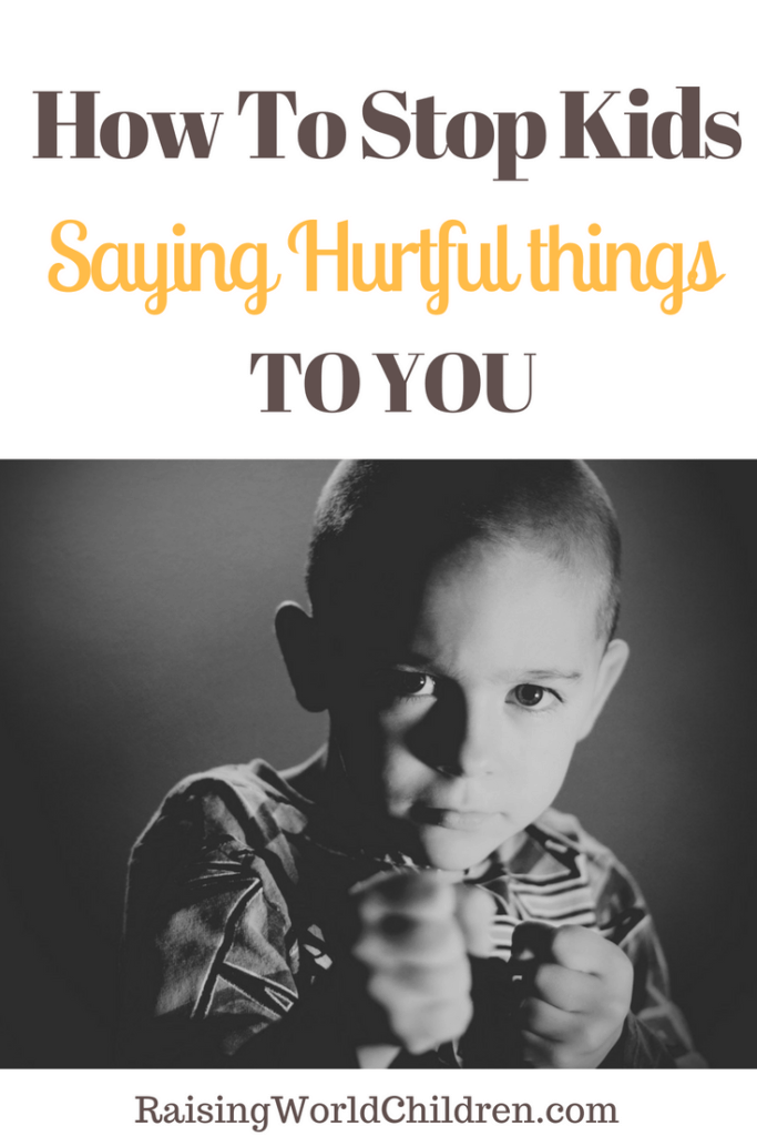 How to Stop Kids Saying Hurtful Things To You