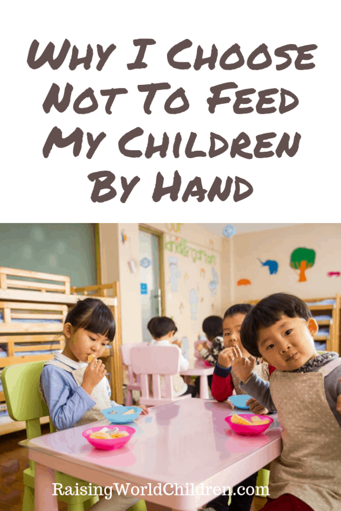If you have ever wondered if you should keep feeding your child by hand, read this?