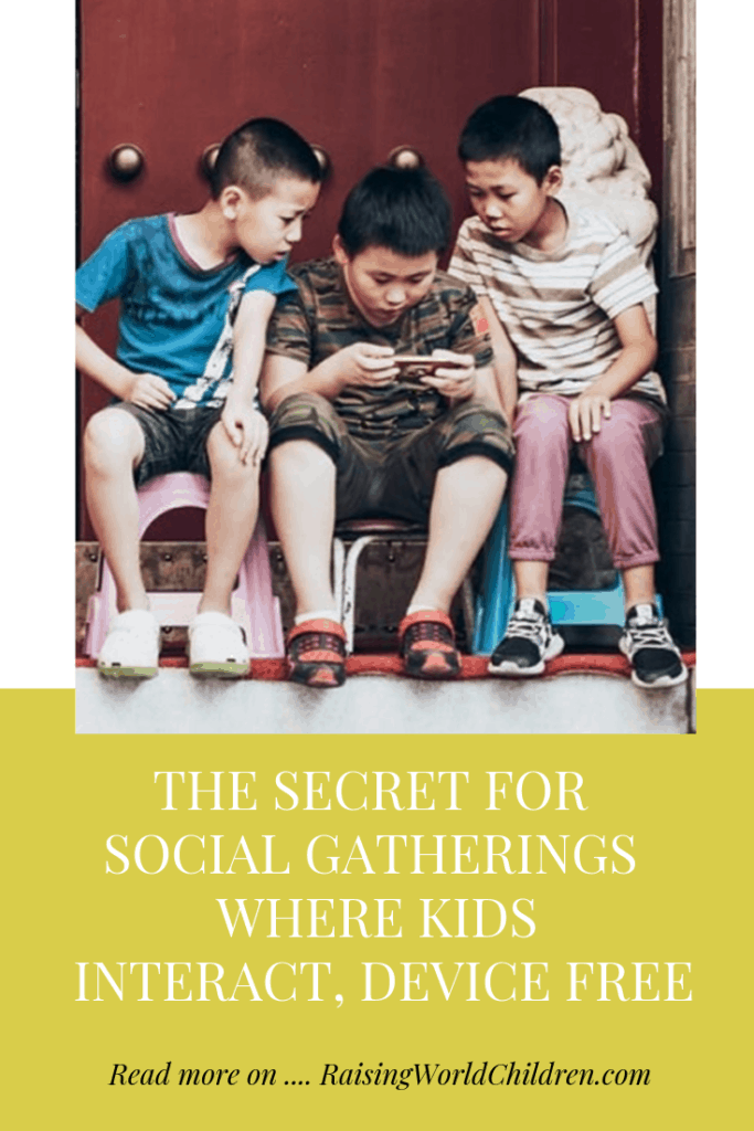 Secret for Social Gatherings Where Kids Interact, Device Free