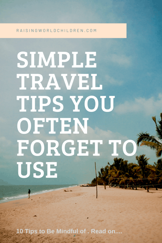 Simple Travel Tips
